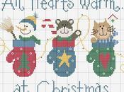 Biglietti Natale faidate punto croce
