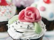 DECORARE CUPCAKE! GLASSA REALE ROSE MARZAPANE