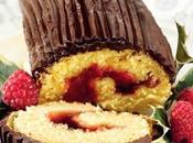 """Tronchetto cioccolato confettura lamponi, irresistibile dolce Natale, versione tutta """"small""""."""