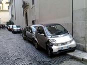 passeggiata durante Santo Stefano centro Roma. Praticamente continuo slalom lamiere divieto sosta