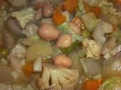 Minestrone verdure dell'orto pastina