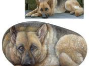 Ritratti cani pietra Lupo
