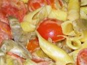 Garganelli philadelphia carciofi ciliegini