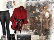 Leather wool kimono style