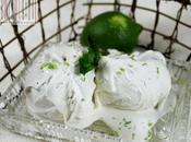 Gelato latte menta (fresca) profumo lime