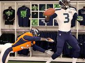 Super Bowl 2014: logo, patch colori Denver Seattle