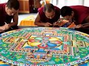 Dieci Monaci Tibetani Spazio Tadini Arte Mandala collaborazione artista Simona Bocchi