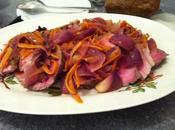 Filetto maiale all'arancia, cipolle rosse Tropea