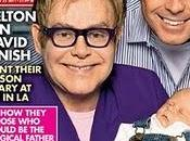 Magazine pubblica foto Zachary Elton John David Furnish