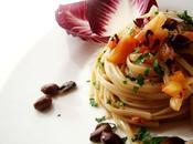 Linguine radicchio, pancetta olive taggiasche