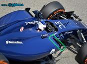 Test Bahrein: Williams novità sulle fiancate cofano motore