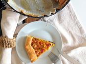 Torta salata invernale zucca, funghi scamorza