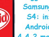 Aggiornamento Samsung Galaxy installare Android KitKat 4.4.2 manualmente