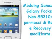 Modding Samsung Galaxy Pocket S5310: permessi Root Recovery modificata
