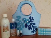 borsina feltro azzurra panna prodotti Yves Rocher