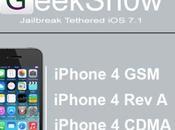 Jailbreak tethered iPhone GeekSn0w Video Guida