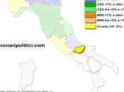 Sondaggio MOLISE marzo 2014 (SCENARIPOLITICI) 34,5%, 33,0%, 28,5%. Movimento Stelle primo partito crescita. Scende Forza Italia