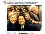 """Hillary, Bill Chelsea Clinton """"selfie"""" parodia (foto)"""