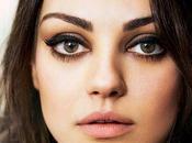 Trucco occhi come Mila Kunis: tutorial verdi grandi
