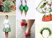Green&red inspirations emerald leaf earrings: It's Spring!