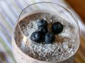 Pudding semi chia, cocco mirtilli Blueberry coconut chia pudding