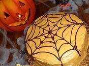 Torta arancione Halloween ragnatela