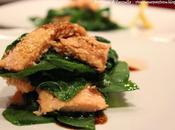 Millefoglie trota salmonata spinaci freschi quiete dopo tempesta