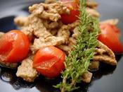 carne semplice: Uccelletto vitellone sidro pomodorini timo