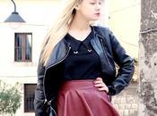 #outfit gonna pelle burgundy Sammydress calze Omero