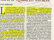 """Kershaw, biografo Hitler, giudica infondati allarmi possibile crollo sistemi democratici: sarà """"Quarto Reich"""", Corriere della sera maggio 2013"""
