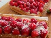 Crostate fragole crema miele farina cocco (senza glutine)