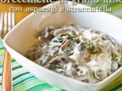 Orecchiette grano arso asparagi stracciatella Toasted wheat orecchiette with asparagus cheese