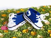 Scarpe uncinetto, crochet, stile Converse!!