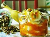 Banane salsa cachi copertura pistacchi.