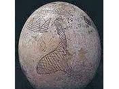 disegno dell'uovo struzzo Saqqara raffigura Piramidi Giza: ecco prove