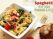 Spaghetti pesce spada, pomodoro pesto