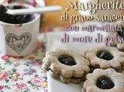 Margherite grano saraceno marmellata more gelso Buckwheat sandwich cookies with mulberry