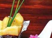 Cartoccio patate spuma maionese avocado.