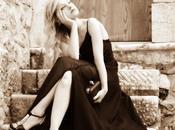 abito sera nero Oasap sandali gioiello