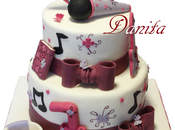 Torta Violetta sweet table tema