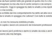 Laura Pausini mette smalto spiaggia, passante della cafona
