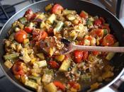 Cozze ratatouille verdurine Moules avec Mussels with