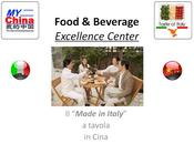 "Parte ""Taste Italy"", piattaforma distributiva mercato Cinese Asiatico ""Made Italy"" tavola."