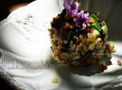 Riso integrale farro zucchine toscane ricotta salata