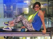 OOTN: Fluo Electric blue (Nuove Converse serata cinema)