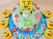 Torta cupcakes spongebob