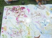 Pittura acquerelli naturali prato