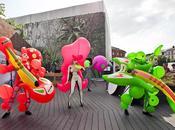 SLOVENIA: sculture latex performance Sasha Frolova Festival Stays, luglio settembre 2014