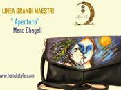 POCHETTE DIPINTA MANO, pelle made Italy, Marc Chagall