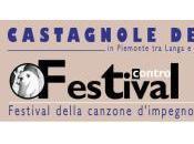 """Castagnole Delle Lanze (AT), agosto, terrà Festival Contro, ovvero """"Festival della canzone d'impegno""""."""